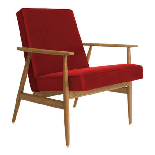 366 FOX Lounge Sessel – Kollektion Velvet, Farbe Redoutable Samt