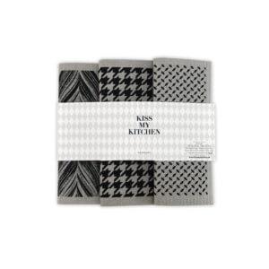 KMK Schwammtuch-Set London Grau-Schwarz