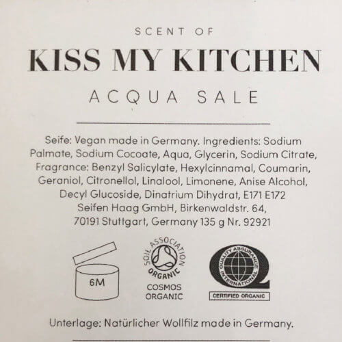 KMK Seife Scent of Kiss my Kitchen