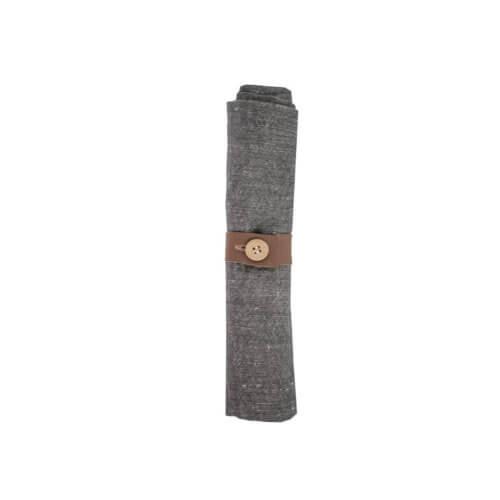 Storefactory Serviette aus Leinen inkl. Serviettenring – Grau