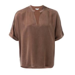 YAYA Cupro Shirt Choccolate