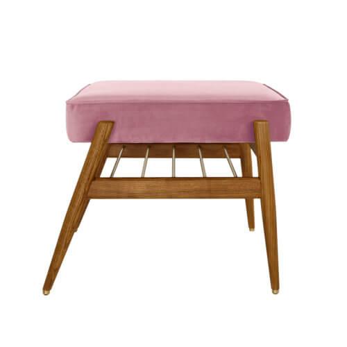 366 FOX Fußbank Kollektion Velvet, Farbe Powder Pink, seitliche Aufnahme