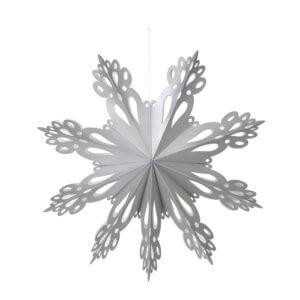 Broste Papierstern Snowflake Grau XL