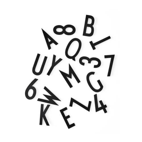 Design Letters Buchstaben-Set Schwarz (Large) - Buchstaben und Zahlen in Schwarz