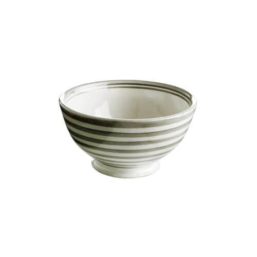 TineK Streifen Schale Grau-Weiß/Beige