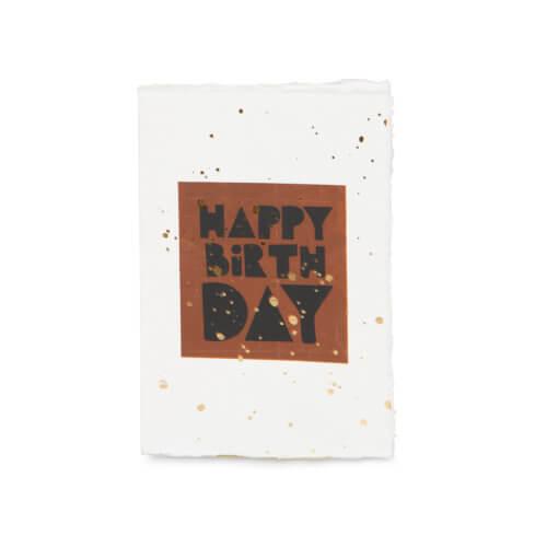 """YAYA Postkarte """"Happy Birthday"""""""
