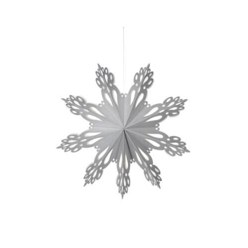 Broste Copenhagen Papierstern Snowflake – Silber L