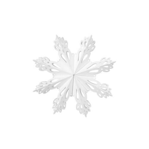 Broste Copenhagen Papierstern Snowflake – Weiß L