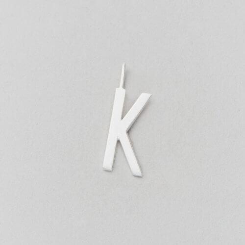 Design Letters Buchstabe K (16 mm) Silber