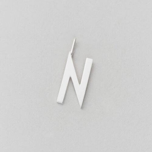 Design Letters Buchstabe N (16 mm) Silber