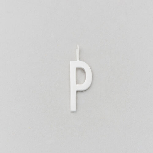 Design Letters Buchstabe P (16 mm) Silber