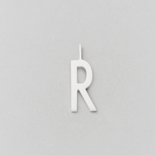 Design Letters Buchstabe R (16 mm) Silber