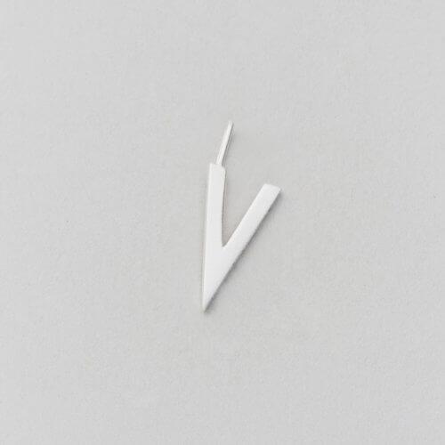 Design Letters Buchstabe V (16 mm) Silber