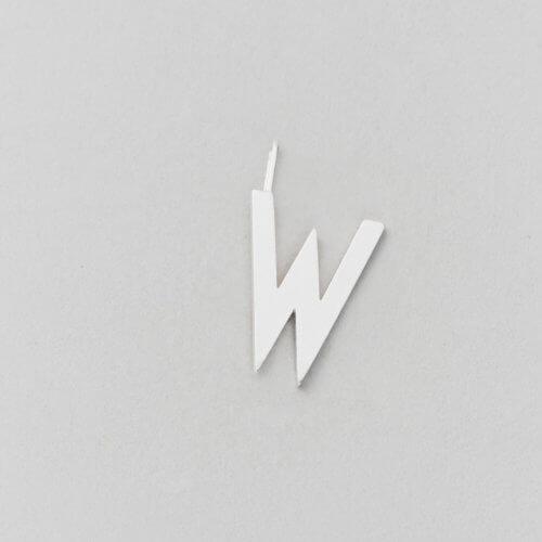 Design Letters Buchstabe W (16 mm) Silber