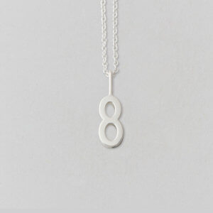 Design Letters Zahl 8 Silber (10mm) – Lucky Numbers mit oder ohne Kette