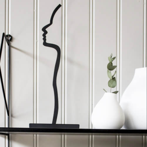 Storefactory Figur Silhuette aus Metall – Schwarz