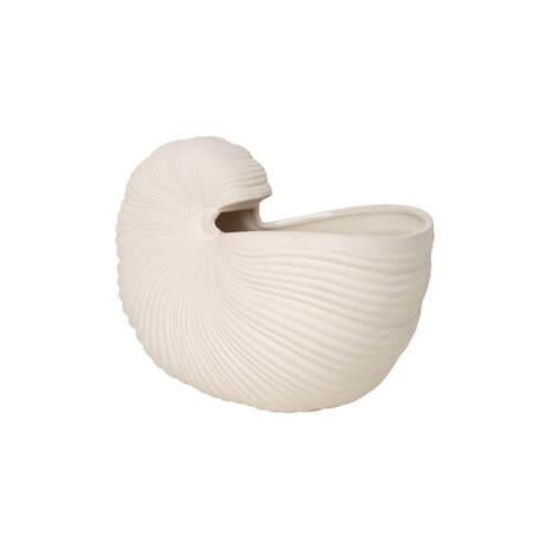 ferm Shell Pot Cremé-Weiß