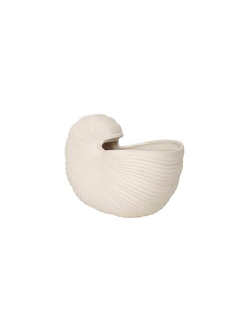 ferm Shell Pott Cremé-Weiß