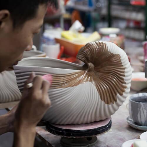 Ferm Living Blumentopf Shell Weiß