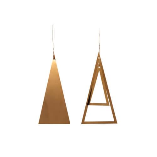 Hübsch Interior 2er Set Weihnachtsbaum Golden