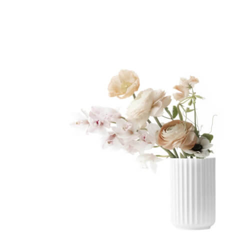 Lyngby Porzellan Vase Weiß