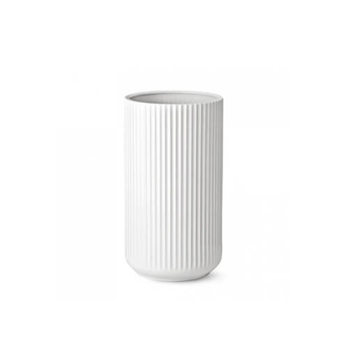 Lyngby Porzellan Vase Weiß – H 20 cm