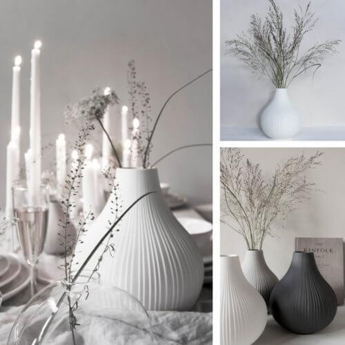 Storefactory Ekenäs Vase Weiß L