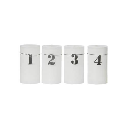 OOhh Kollektion 4er Set Adventsanhänger 1,2,3,4 Grau