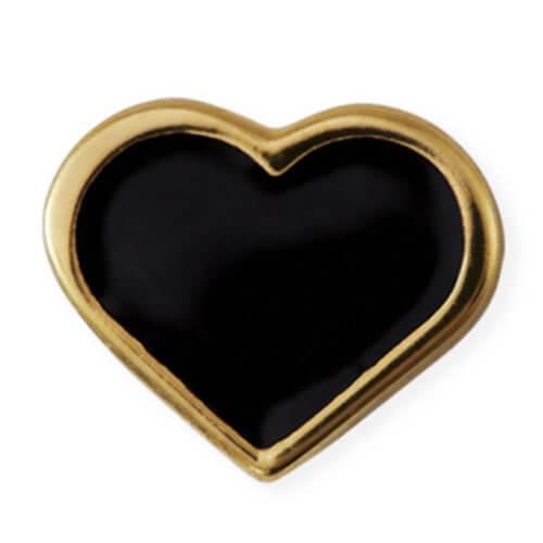 Design Letters Anhänger Herz Schwarz für Kette Golden