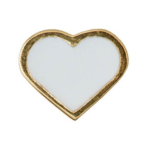Design Letters Anhänger Herz Weiß für Kette Golden