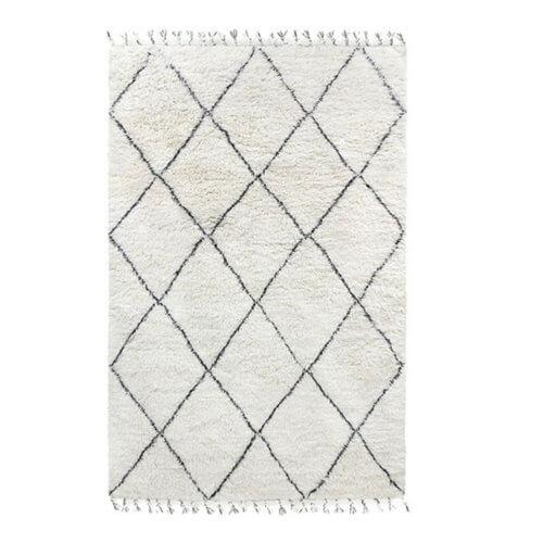 HKliving Berber Teppich Weiß-Schwarz