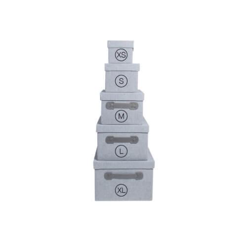 Storefactory Aufbewahrungsbox Grau in 5 Größen