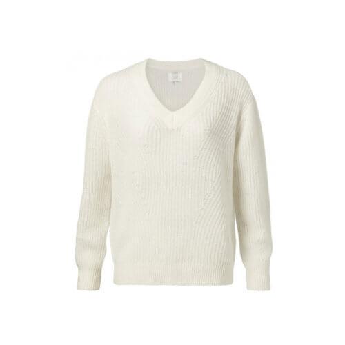 YAYA Alpaca Pullover Weiß
