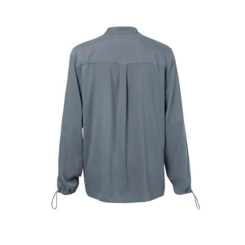YAYA Cupro-Bluse Blau