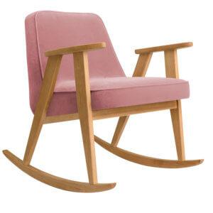 366 Rockingchair (Schaukelstuhl) Kollektion Velvet Powder Pink