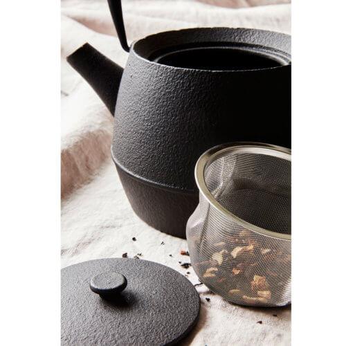 Teekanne Cast Schwarz