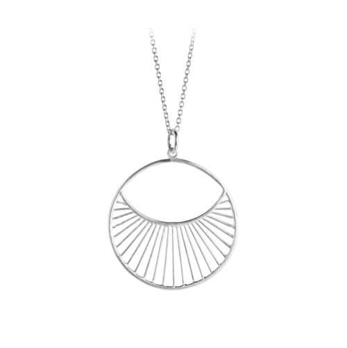 Pernille Corydon Halskette Daylight Silber L (30mm)