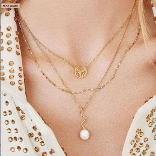 Halskette Daylight von Pernille Corydon 18k vergoldet