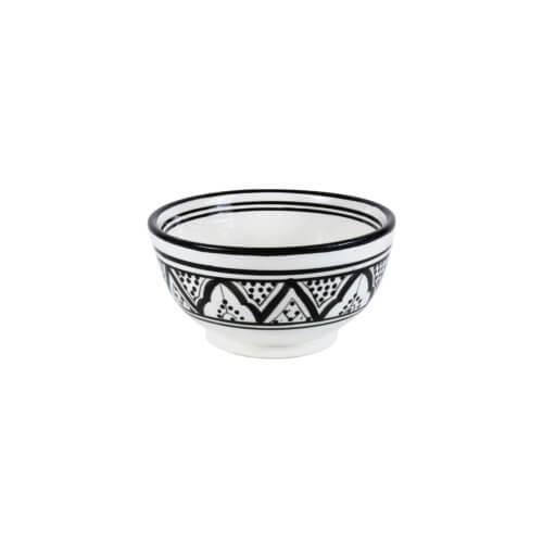 Marokkanische Schale Schwarz Weiß S ca. Ø 15 cm