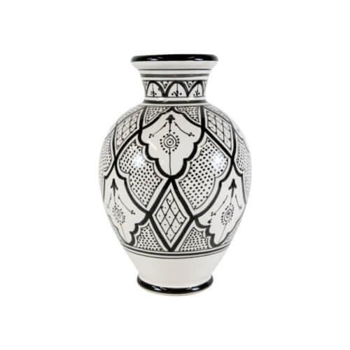Marokkanische Vase Schwarz-Weiß