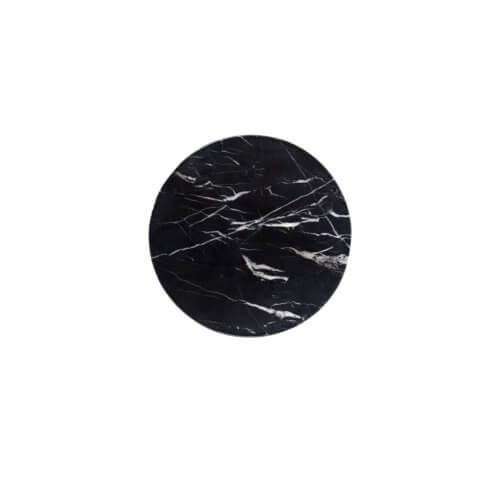 Marmor Untersetzer Rund (Ø 14) Schwarz