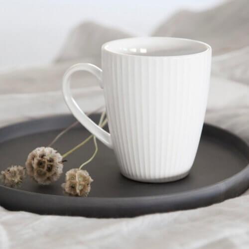 Keramik-Tablett Dunkelgrau