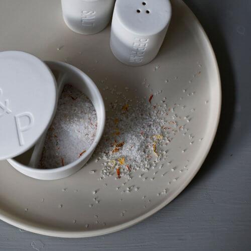 Storefactory Keramik-Tablett Beige Rund ca. Ø28 cm