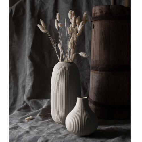 Keramik-Vase Beige von Storefactory Ø12 x H26 cm