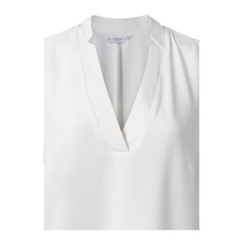 YAYA Bluse mit V-Ausschnitt Weiß Detail