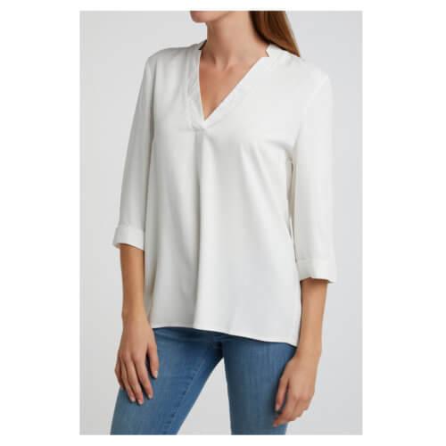 YAYA Bluse mit V-Ausschnitt Weiß (offwhite)