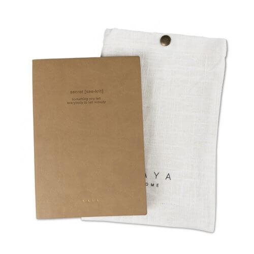 YAYA Notizbuch Secret mit Textiltasche