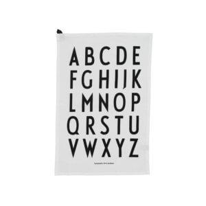 Design Letters Geschirrtuch A-Z Weiß
