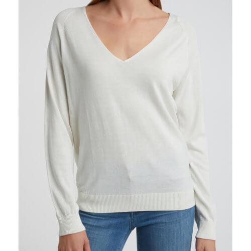 YAYA Feinstrick-Pullover Weiß