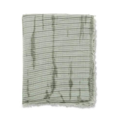 YAYA Leinenschal Mint mit plissierter Optik
